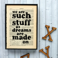 "Shakespeare Quote 'we are such stuff as dreams"" vintage book page framed"