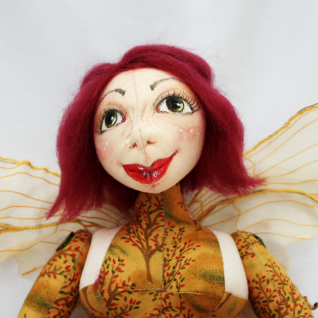 Amber Autumn Fairy Art Doll