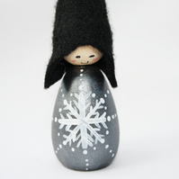 Cornish Pixie Black Snowflake