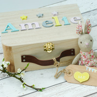 Personalised Baby Memory Box Keepsake Box Gift for a New Baby Christening Gift