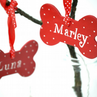 Dog Lovers Personalised Christmas Decoration for Dogs Pet Decoration Dog Bone