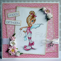 Fairy birthday card (personalisable sentiment)