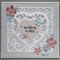 Wedding wishes heart card