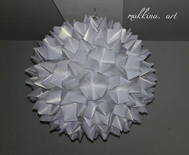 Pearlised paper lampshade
