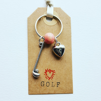 Golf and Heart Charm Kering