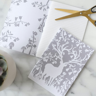 A5 Grey Stag Notebook