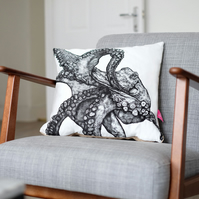 Octopus Print Cushion