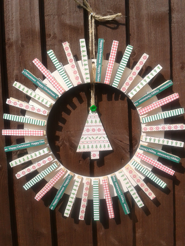 Christmas Peg Wreath