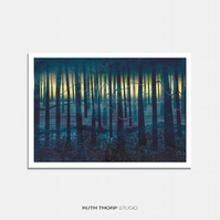 Forest Illustrated Art Print