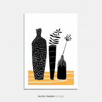 Vases Illustrated Art Print