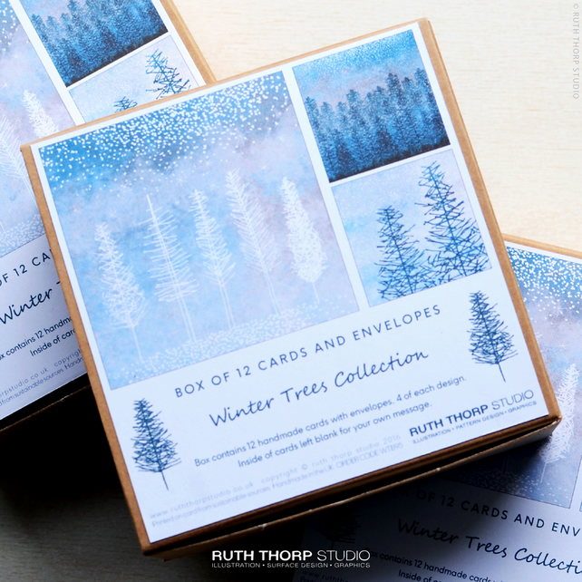 Winter Trees - Box of 12 Greeting Cards
