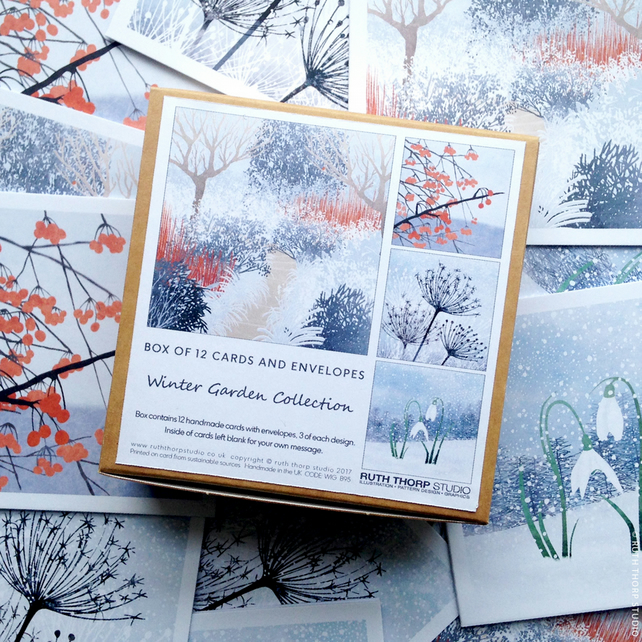 Winter Garden - Box of 12 Greeting Cards