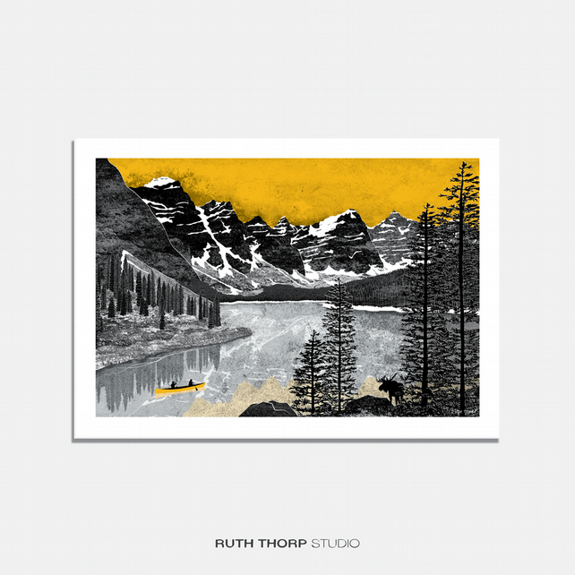 Northern Exposure Illustrated Art Print