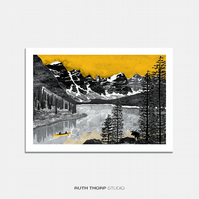 Northern Exposure - A4 Illustrated Art Print