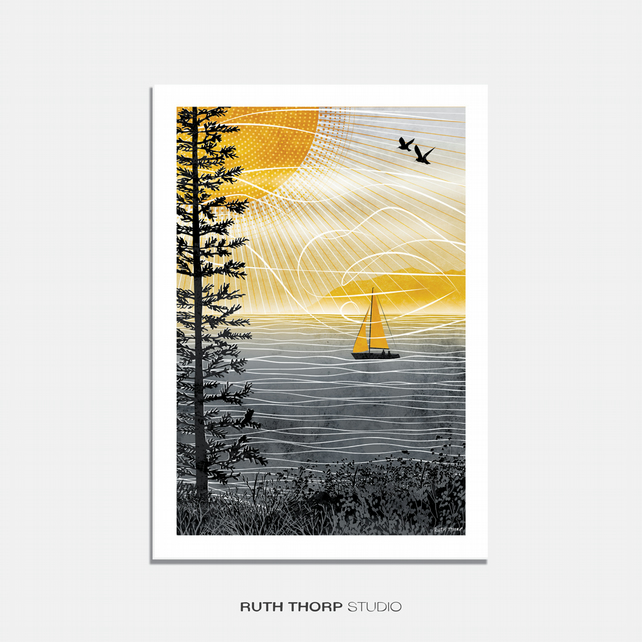 Summer Long Illustrated Art Print
