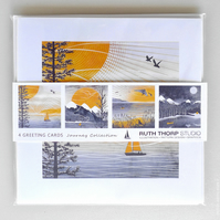 Journey Pack of 4 Greeting Cards