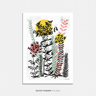 Meadow 2 - A3 Illustrated Art Print