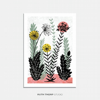Meadow 3 - A3 Illustrated Art Print