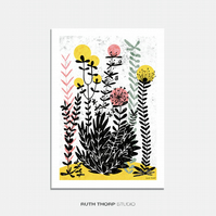 Meadow 4 Illustrated Art Print