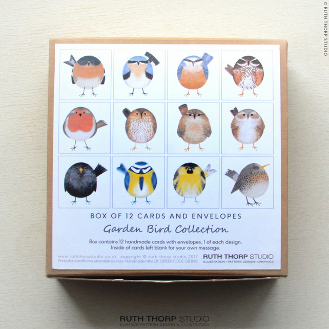 Garden Birds Collection - Box of 12 Greeting Cards
