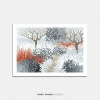 Winter Garden Illustrated Art Print