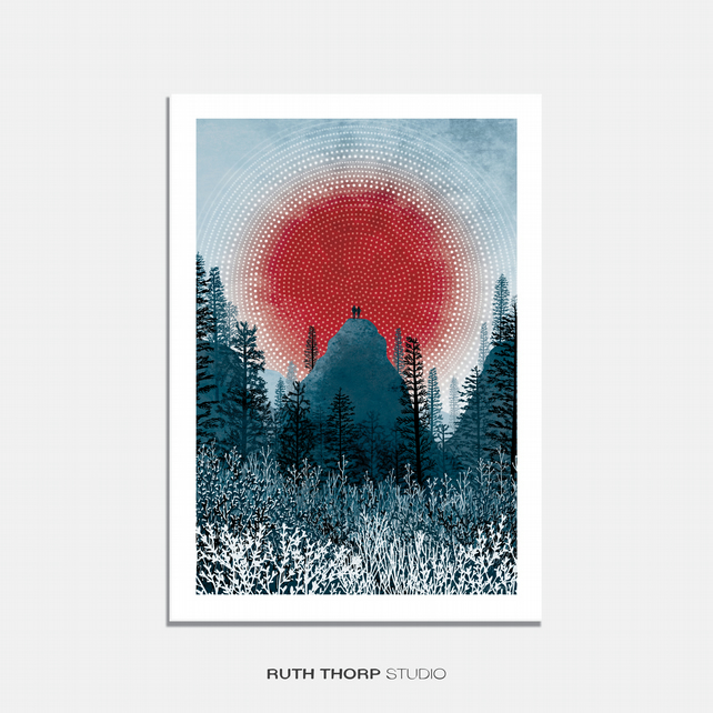 Zenith Illustrated Art Print