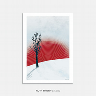 Rising Illustrated Art Print