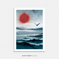 Northern Sun - A4 Illustrated Art Print
