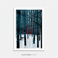 Northern Forest - A4 Illustrated Art Print