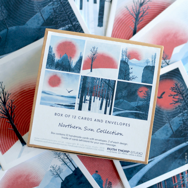 Northern Sun Collection - Box of 12 Greeting Cards