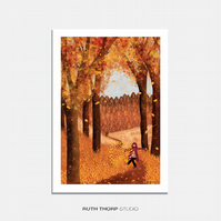 Autumn Illustrated Art Print