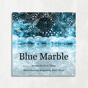 Blue Marble illustrated eco-poem (paperback book)
