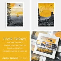 Fiver Friday Deal: Journey Prints and Cards
