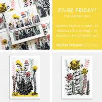 Fiver Friday Deal: Wild Meadow Prints and Cards