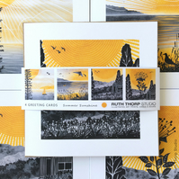 Summer Sunshine Pack of 4 Greeting Cards