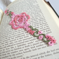 Pink Lace Rose Bookmark