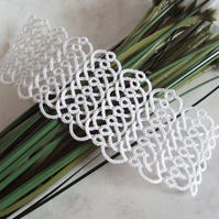 Tatted Lace Bridal Cuff