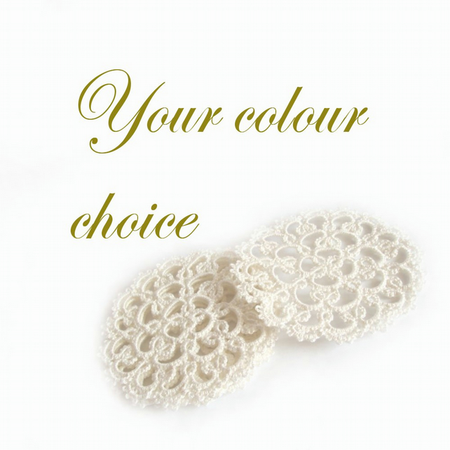 Tatting Lace Coasters - Your Choice of colour
