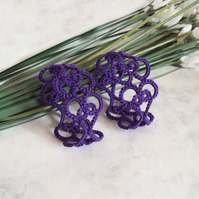 Purple napkin rings