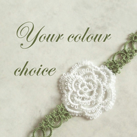 Custom Lace Rose Bookmark