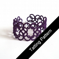 PDF Tatting Pattern - 'Christina' Bracelet - Beginner