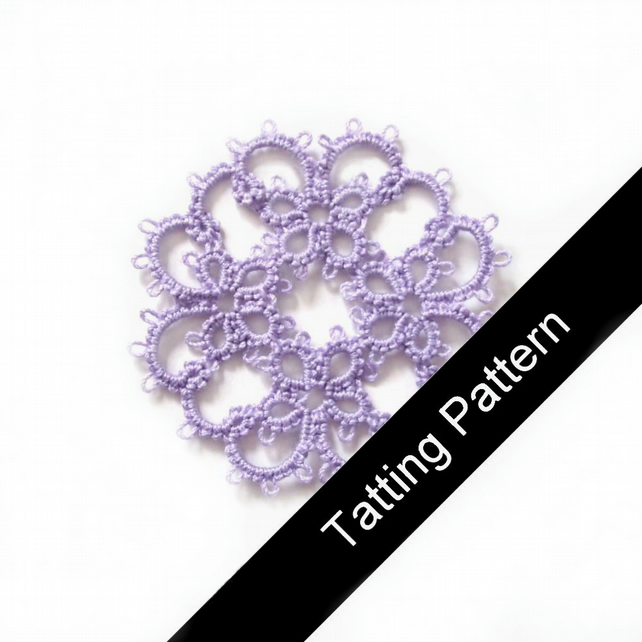 PDF Tatting Pattern - Janessa Motif - Intermediate