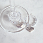 Bride and Groom Silver Wedding Wine Glass Charms
