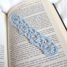 Blue Tatting Lace Bookmark