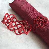 Lace Heart Napkin Rings