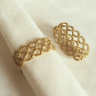 Metallic Gold Napkin Rings