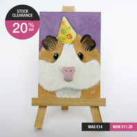 SALE - Original ACEO - Party Guinea Pig Painting