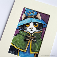 Mage Cat Illustration - 5 x 3 Inch