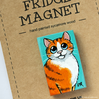 Ginger Tabby Cat Fridge Magnet