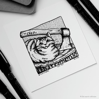 Chop - Day 24 Inktober 2018 - Mini Cat Drawing